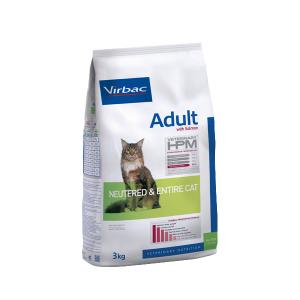 VIRBAC HPM ADULTO CAT SALMON (GATO CASTRADO Y ENTERO) 1.5 KG. ORIGEN FRANCES. TIENDA PARA MASCOTAS