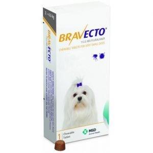BRAVECTO 2 – 4,5 KG – ANTIPARASITARIO EXTERNO MASTICABLE. TIENDA PARA MASCOTAS