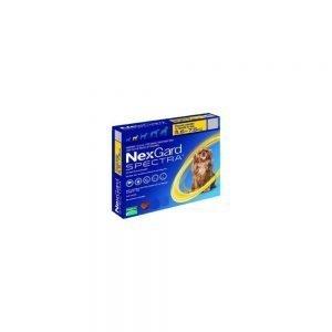 Nexgard Especta 3,6 a 7,5 Kg. Antiparasitario Interno Masticable. Tienda para Mascotas