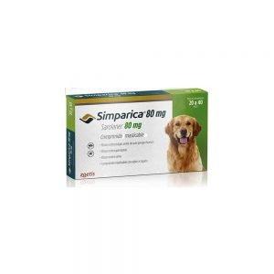 Simparica 20 a 40 Kg, Perros Antiparasitario Masticable Externo, Tienda para Mascotas