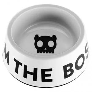 Plato de comida «Im The Boss Bowl White» ZeeDog