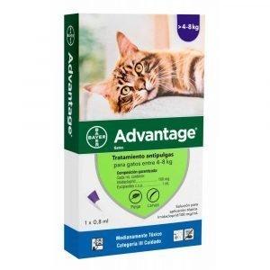 Desparasitante Advantage Gato 4-8 kg. Bayer
