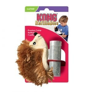KONG REFILLABLE CON CATNIP HEDGEHOG